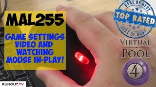 Virtual Pool 4 | Mal255's Game Settings & Mouse In-Play Video