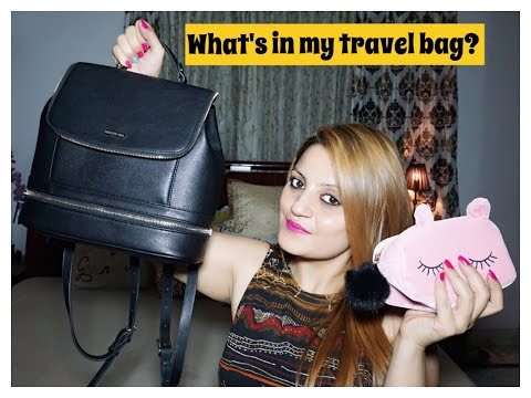 What's in my Travel Bag & How I organize it to make life easier while travelling.
