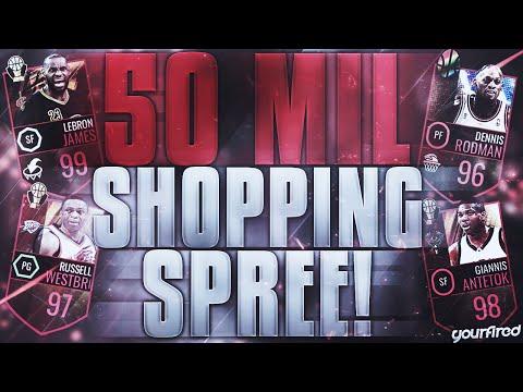 NBA LIVE MOBILE   50 MILLION SHOPPING SPREE! 98 FRANCHISE RATING!