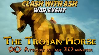 Clash Of Clans | Trojan Horse Clan War Event | ALL 90 Attacks in LAST 10 Minutes