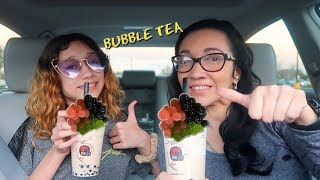 TRYING BOBA TEA FOR THE FIRST TIME!