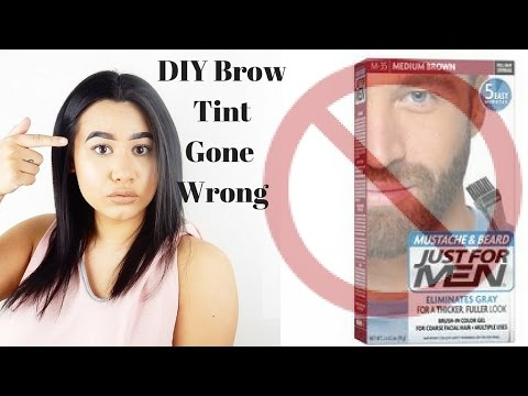 Diy Brow Tint Using Just For Men Beard Dye Don T Do It