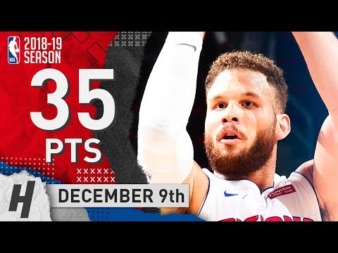 Blake Griffin Full Highlights Pistons vs Pelicans 2018.12.09 - 35 Pts, 5 Rebounds!