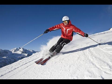 Само крутое катание на лыжах в мире!Экстремальный спуск с горы.