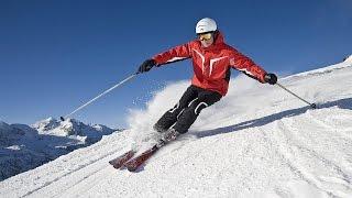видео Спуски с горы на лыжах