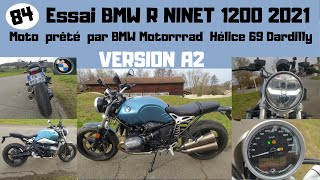ESSAI BMW R NINET 1200 2021 ( version 35 kw )
