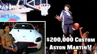 Michael Purdie Wins Aston Martin in Dunk Contest : (Raw Dunks) Video