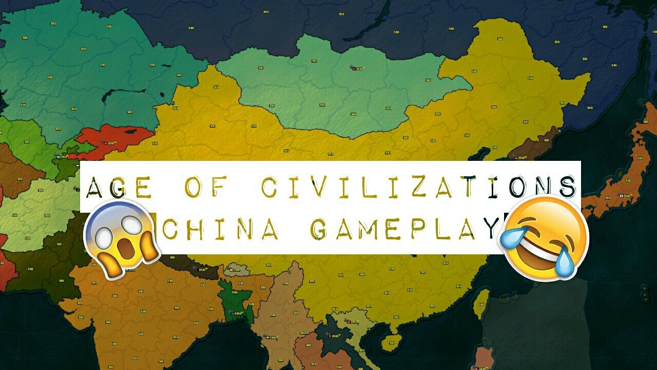Modern Day China Map.Age Of Civilizations Asia Modern Day Scenario Chinese Gameplay