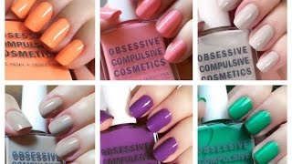The Cosplay Nail Polish Collection - Obsessive Compulsive Cosmetics swatches