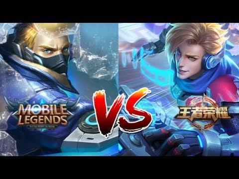 Mobile Legends VS King Of Glory BEST Side By Side Comparison Heroes