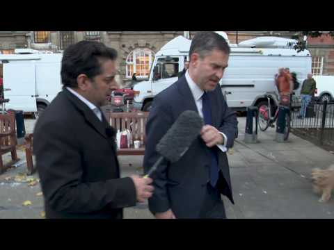 Secretary of State for Work and Pensions David Gauke REFUSES to talk to our crew!