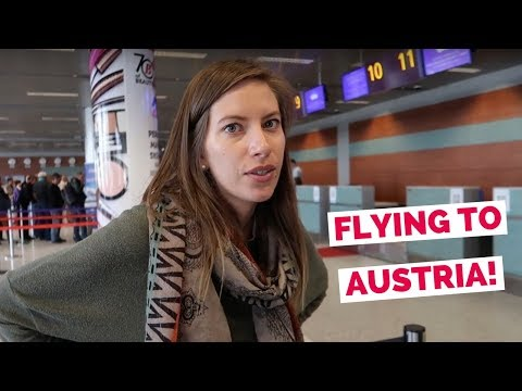 Austrian Airlines flight from Ukraine to Austria travel vlog (Lviv - Vienna - Innsbruck - Kitzbühel)