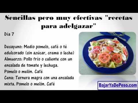 Recetas Para Bajar De Peso La Panza