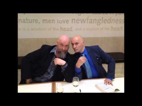 Warren Ellis and Grant Morrison at the British Library