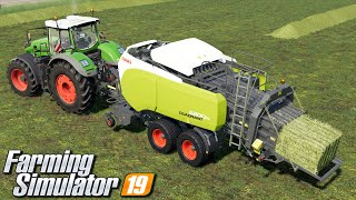 Prasowanie siana i trawy - Farming Simulator 19 | #108