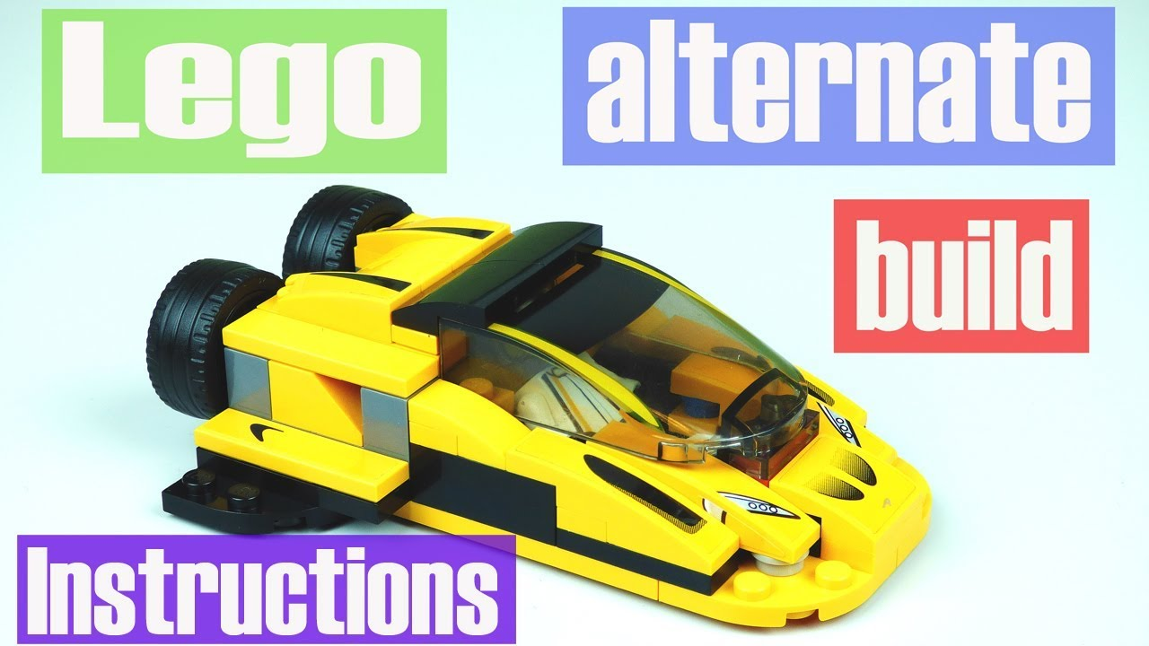 Lego Speed Champions Mclaren P1 Alternate Build Instructions