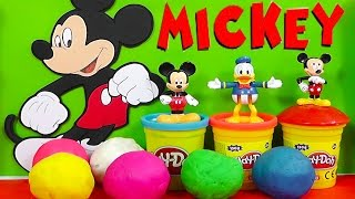 Play Doh Surprise Eggs Mickey Mouse Clubhouse Kinder Surprise Eggs Toys