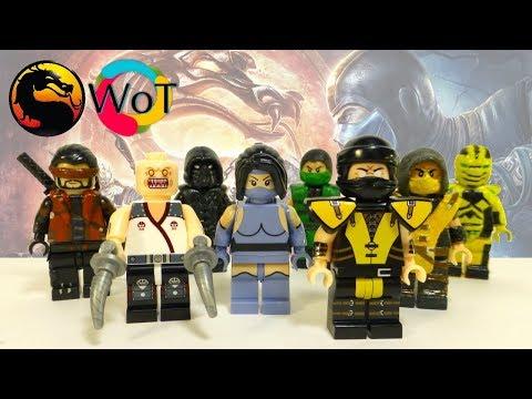 Lego Mortal Kombat Минифигурки и мои старые кастомы