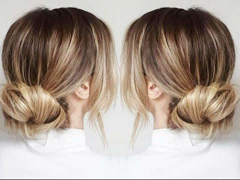 Chignon cheveux mi long simple rapide angeliahair youtube - Comment faire un chignon flou ...