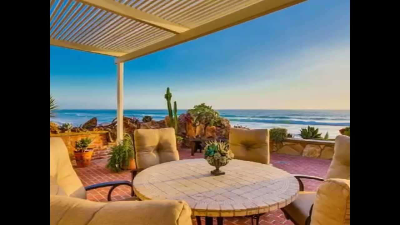 Encinitas Real Estate Beautiful Oceanfront Home For At Moonlight Beach You
