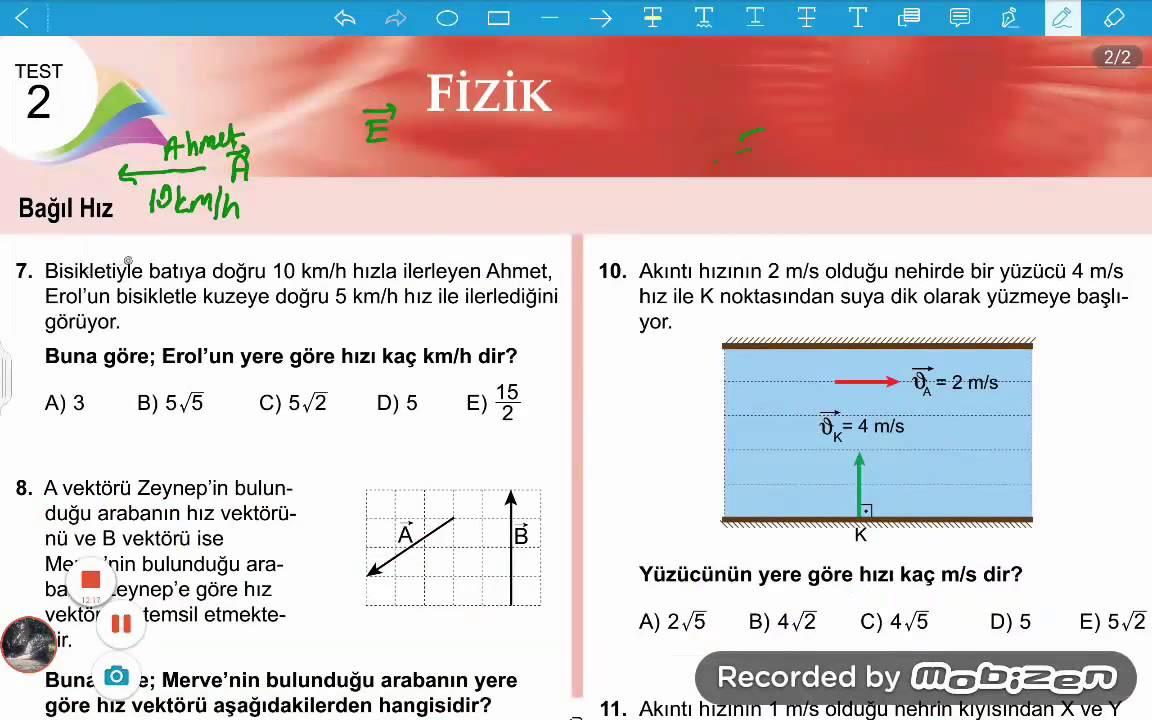 11sinif Fizik Meb Kazanim Testi 2 At özelders05053968315 Youtube