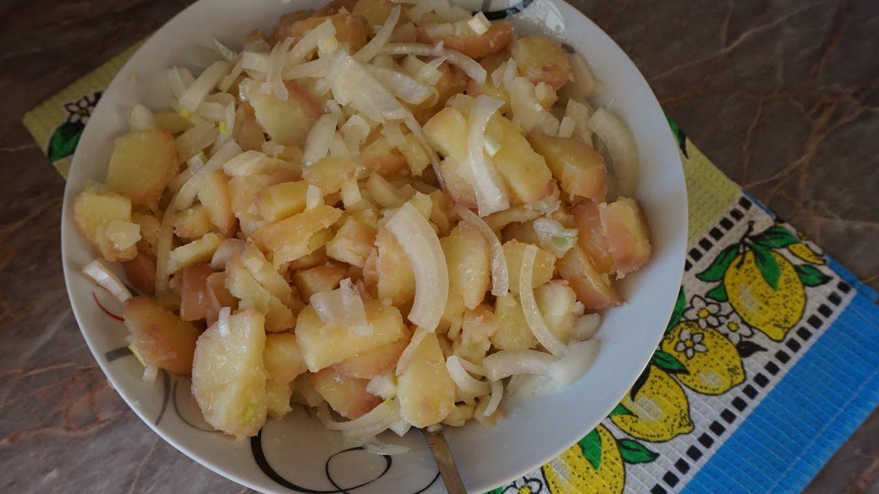 Картофельный салат по-сербски постный/Potato salad