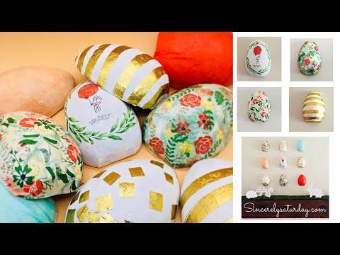 Decoupage paper napkin Easter eggs