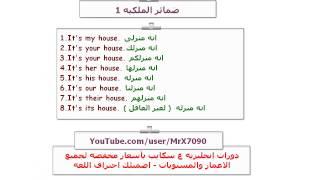 شرح صفات وضمائر الملكية باللغة الانجليزية