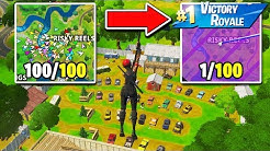 I Got 100 Fans to Compete by ONLY Landing at RISKY REELS! (Last ALIVE Wins!)