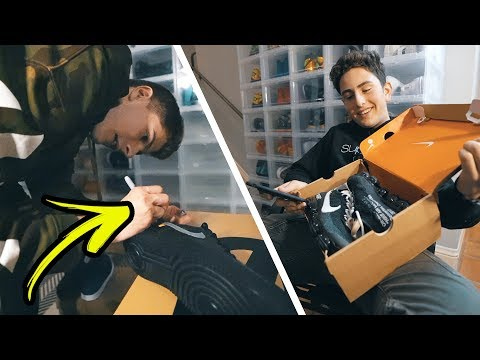 FAKE OFF WHITE SNEAKERS PRANK ON MY FRIEND! (he had no idea)