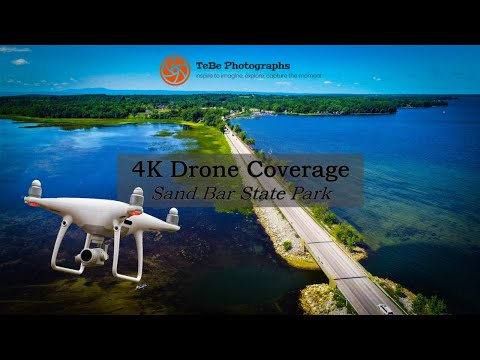 4K Drone Coverage | Sand Bar State Park