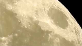 Apollo Landing Sites as viewed through a Nikon Coolpix P900 - with a Mystery at 2:00ish