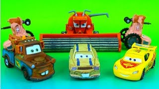 Baixar - Disney Pixar Cars Mater S Cousin Jud Lightning Mcqueen Go Through Obstacle Course Tractors Fire Grátis