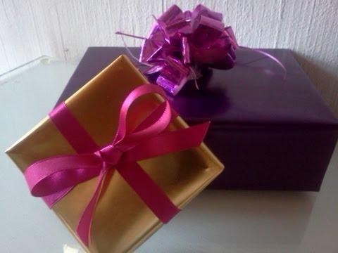 cmo forrar cajas para regalo