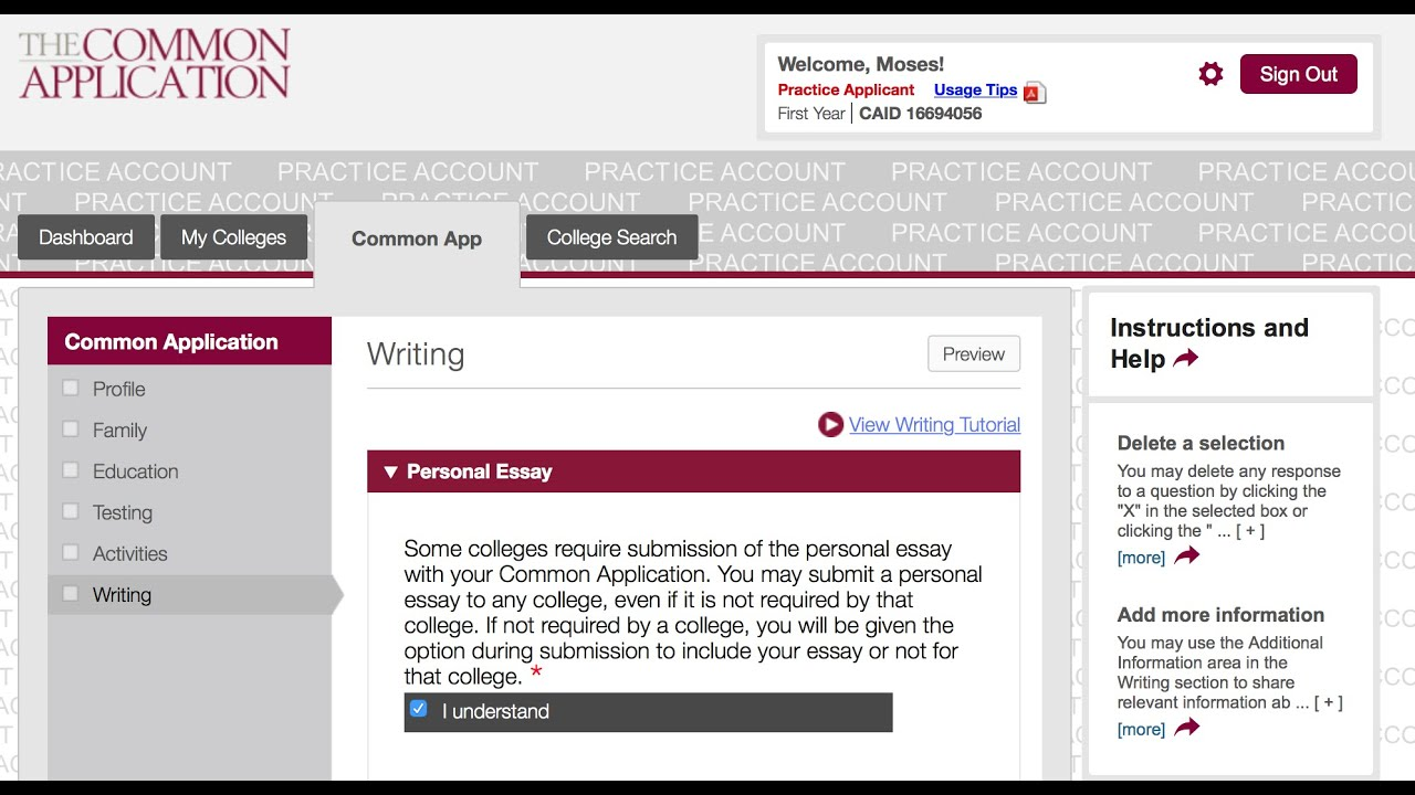 common app essay requirements 2012 The common application for 2017-2018 is live not all common app schools have the same writing, testing, essay, and letter of rec requirements.