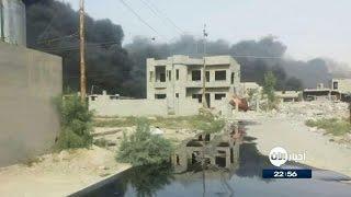 صور تظهر تدفق النفط في مناطق اللزاكة والحود والسرت في الموصل