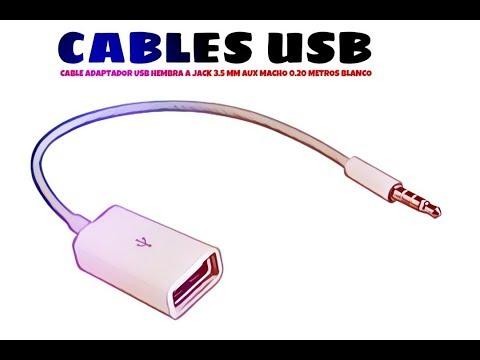 Video de Cable adaptador USB hembra a jack 3.5mm AUX macho 0.20 M Blanco