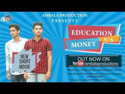 |Education V/S Money Part  -1|New Short Movie|SD College|Ambala Productions|