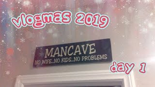 Gambar cover VLOGMAS 2019 DAY 1 -- CHECK OUT MY NEW MAN CAVE!