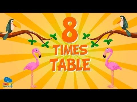 Eight Times Table | We learn English by singing. Songs for children.