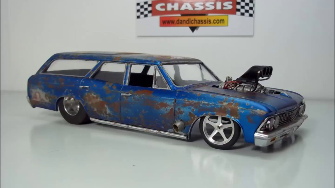 1:25 SCALE DRAG SLOT CARS AND MODEL BODIES BY DENNY - WEATHERED # 10