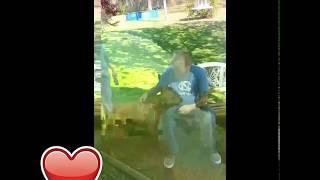 Dog doesnt recognize owner until he sniffs him