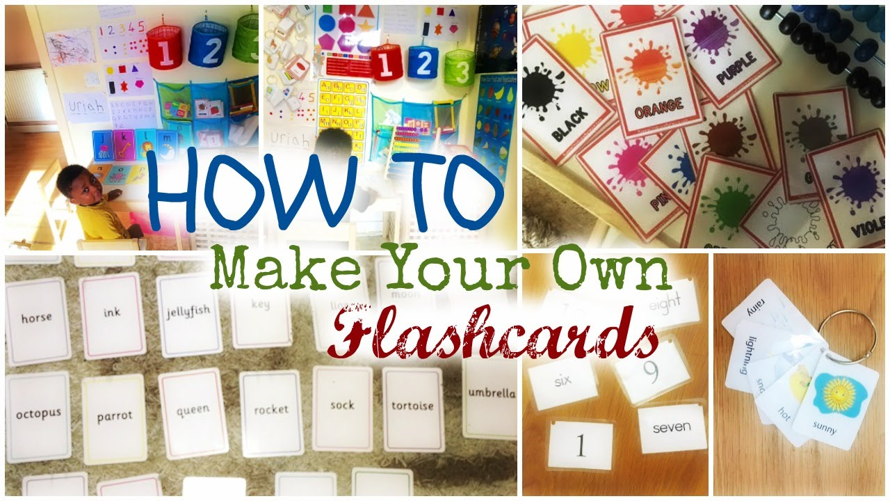 How To Make Your Own Flashcards | CleverClogsTV - YouTube