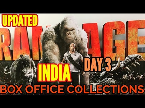 RAMPAGE BOX OFFICE COLLECTION DAY 3 | INDIA | DWAYNE JOHNSON
