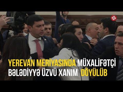 Yerevan meriyasında müxalifətçi bələdiyyə üzvü xanım döyülüb