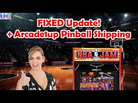 NBA Jam Patch Fixed! And Shipping Update on Arcade1up Pinball from Unqualified Critics