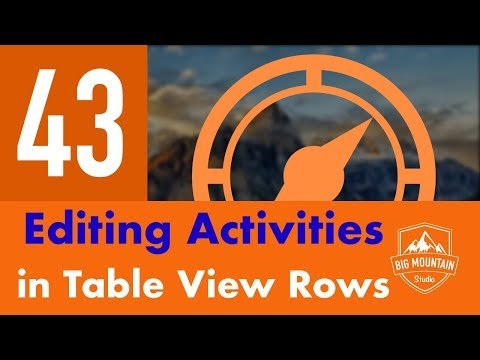 Editing Activity Table View Rows - Part 43 - Itinerary App (iOS, Xcode 10, Swift 5) thumbnail