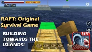 CAN YOU GO TO THE ISLANDS WITHOUT USING THE BOAT!? | RAFT: Original Survival Game