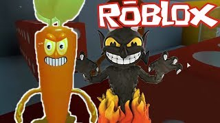 Cup Head Rp - Carrot defeats the devil king! - RoBlox