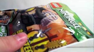 Opening and Review of LEGO Ninjago 9551 Kendo Cole Booster Pack